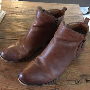 Lucky Brand Women's Brown Leather Ankle Boots 8M